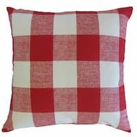 Yeriel Plaid Throw Pillow Red