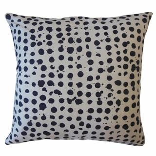 Sadler Polka Dot Throw Pillow Denim
