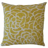 Usra Floral Throw Pillow Sunglow