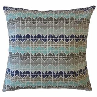 Eimear Geometric Throw Pillow Cyan