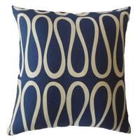 Magala Geometric Throw Pillow Blue