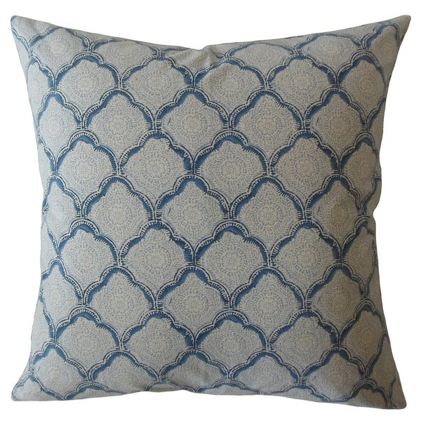 Rahima Damask Throw Pillow Sky