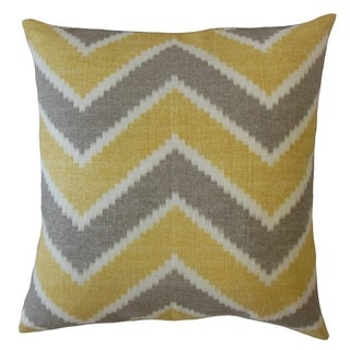 Zenda Zigzag Throw Pillow Yellow