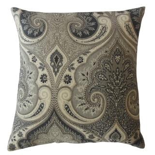 Saeran Damask Throw Pillow Grey