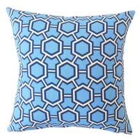 Daire Geometric Throw Pillow Blue