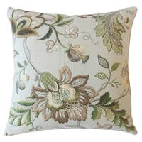 Fayre Floral Throw Pillow Brown