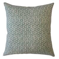 Landen Geometric Throw Pillow Green