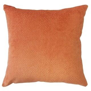 Eligia Solid Throw Pillow Peach