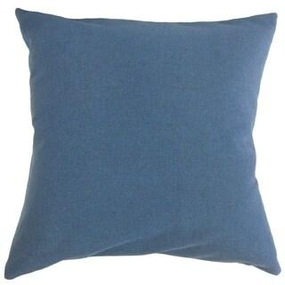 Farsiris Solid Throw Pillow Denim Blue