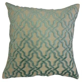 Ieuan Geometric Throw Pillow Blue