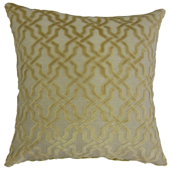 Ieuan Geometric Throw Pillow Oatmeal