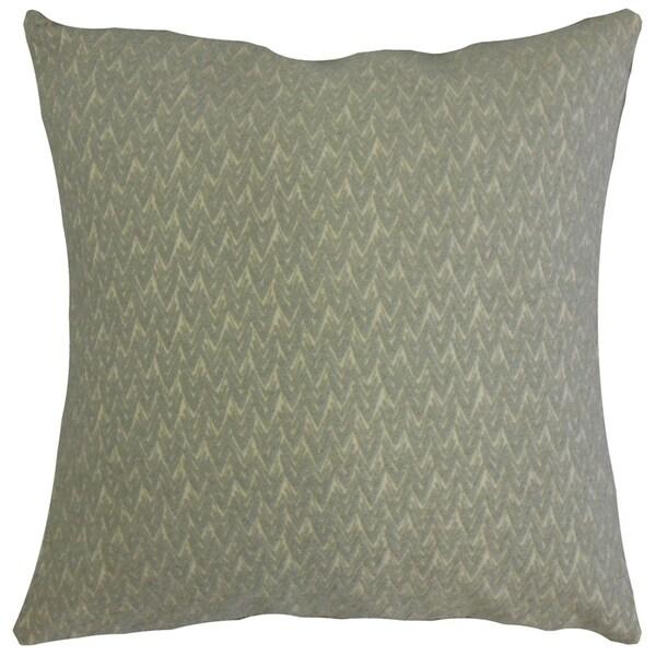 Larkin Geometric Throw Pillow Ash