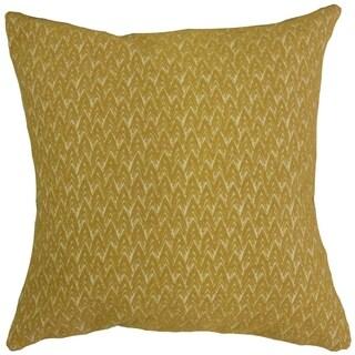 Larkin Geometric Throw Pillow Mustard
