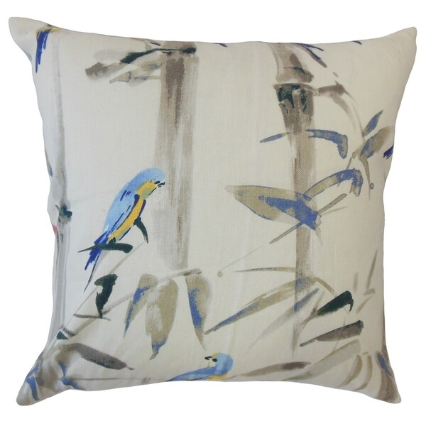 Basma Floral Throw Pillow Cornflower