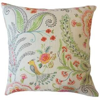 Faiz Floral Throw Pillow Terra
