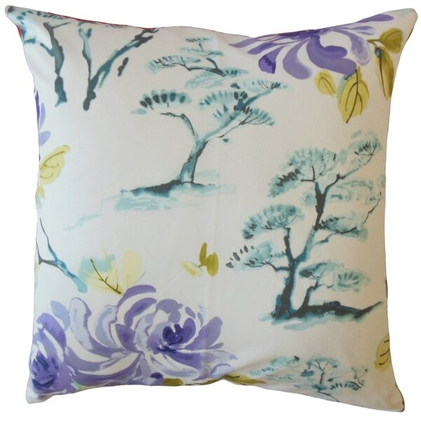 Dacey Floral Throw Pillow Lavender