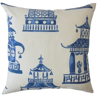 Miri Chinoiserie Throw Pillow Cobalt