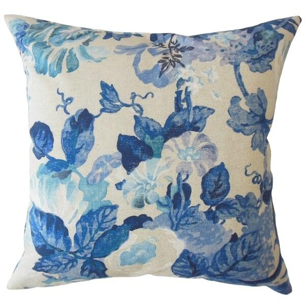 Nakaila Floral Throw Pillow Indigo
