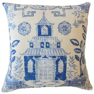 Habiki Chinoiserie Throw Pillow Lapis