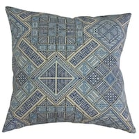 Baback Geometric Throw Pillow Blue