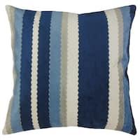 Kalb Striped Throw Pillow Blue