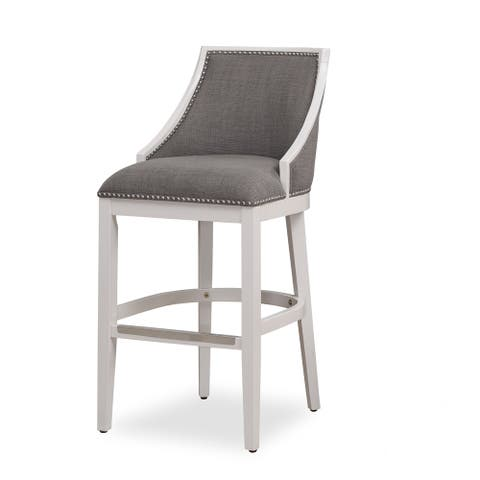 Lawrence White Counter Height Stool by Greyson Living