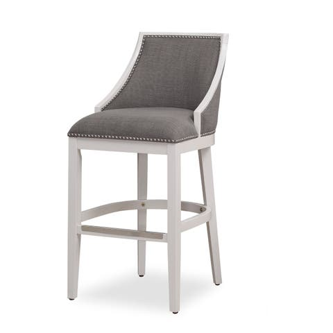 Lawrence White Bar Stool by Greyson Living