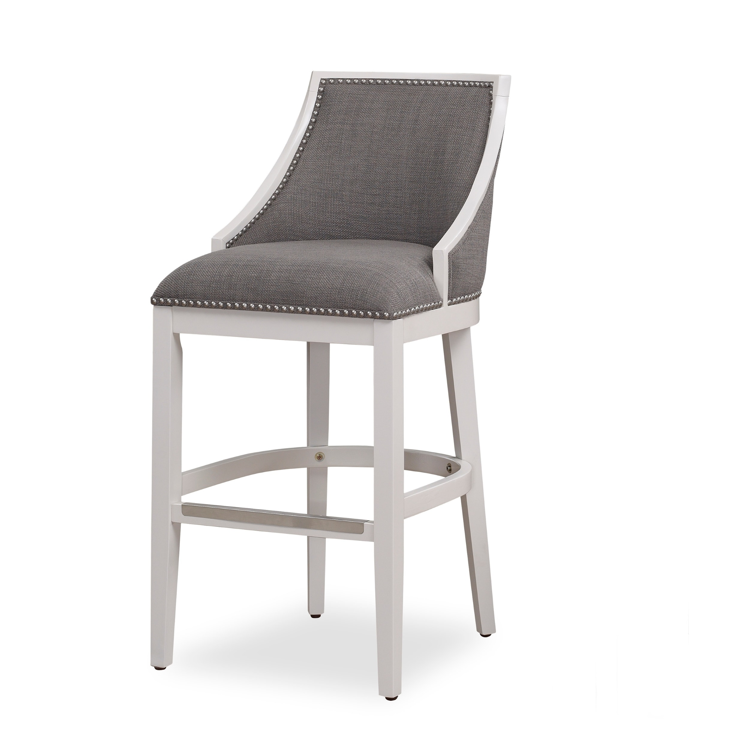 Lawrence White Bar Stool By Greyson Living Overstock 22719139
