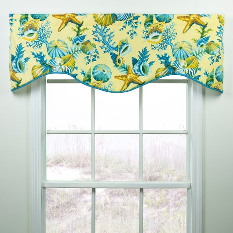 Ocean View shells shaped valance