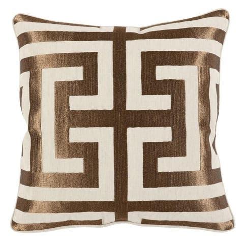 Carson Carrington Ranglebyn Embroidered 22-inch Throw Pillow