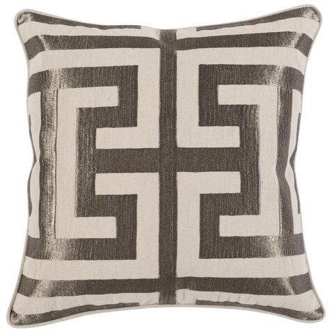 """Kosas Home Carly Embroidered 22"""" Throw Pillow"""