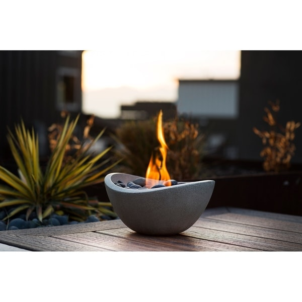 Shop Wave Table Top Fire Bowl Free Shipping Today