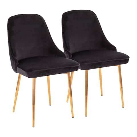 Silver Orchid Naldi Contemporary-Glam Velvet Dining Chair (Set of 2)