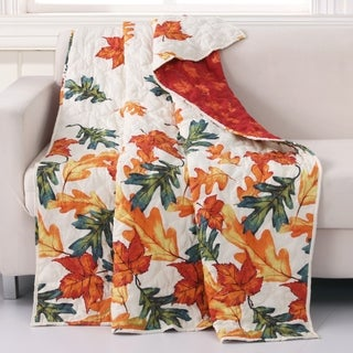 Barefoot Bungalow Falling Leaves Quilted Throw