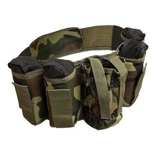 ALEKO Paintball Harness Belt Heavy Duty Smooth Camouflage Design