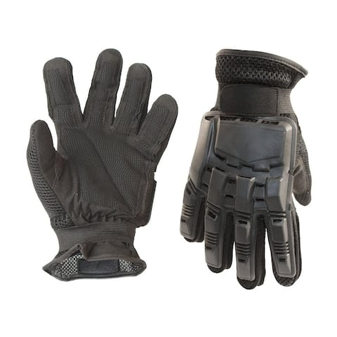 ALEKO Large Paintball Airsoft Military Tactical Full Finger Gloves Black