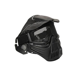 ALEKO Anti Fog Paintball Mask with Double Elastic Strap Black