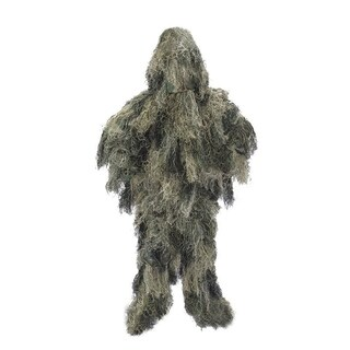 ALEKO Paintball Hunting Woodland Ghillie 3 Piece Full Body Suit