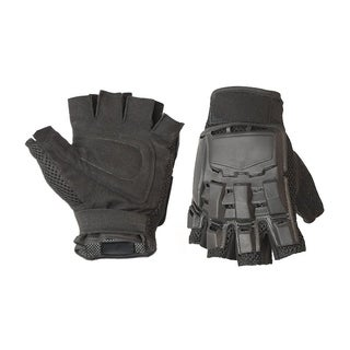 ALEKO Extra Large Paintball Airsoft Half Finger Gloves Black
