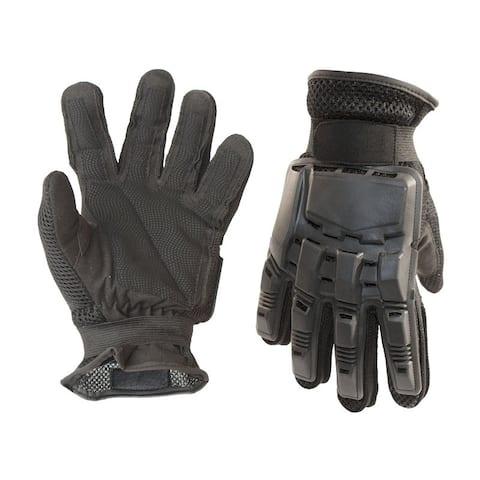 ALEKO Medium Paintball Airsoft Full Finger Gloves Black