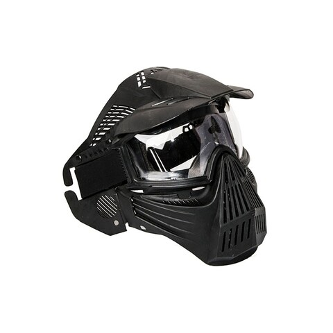 ALEKO Anti Fog Paintball Protective Mask with Double Elastic Strap Black