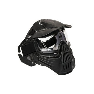ALEKO Anti Fog Paintball Protective Mask with Double Elastic Strap Black