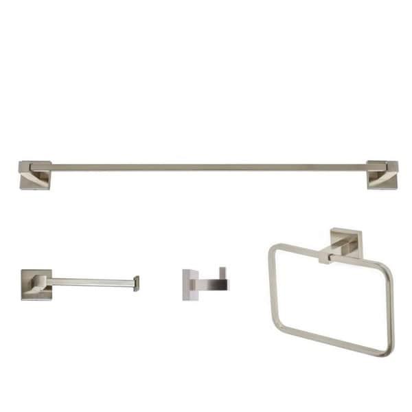 Shop Italia Capri Series Brushed Nickel 4 Piece Bathroom Accessory