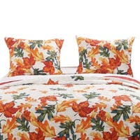 Barefoot Bungalow Falling Leaves Quilted Pillow Sham Set (Set of 2)