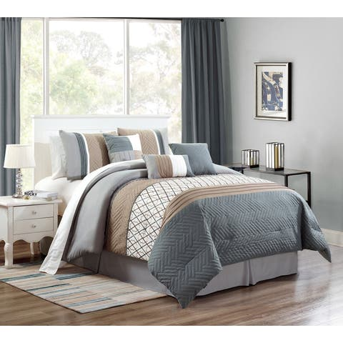 Emer embroidery 7 piece comforter set