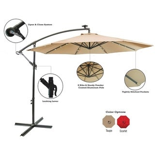Sun-Ray 10' Offset Solar Umbrella