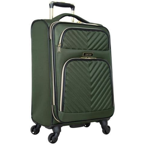 Kenneth Cole Reaction 'Chelsea' 20-Inch Lightweight Softside Quilted Chevron Expandable Spinner Carry On Suitcase