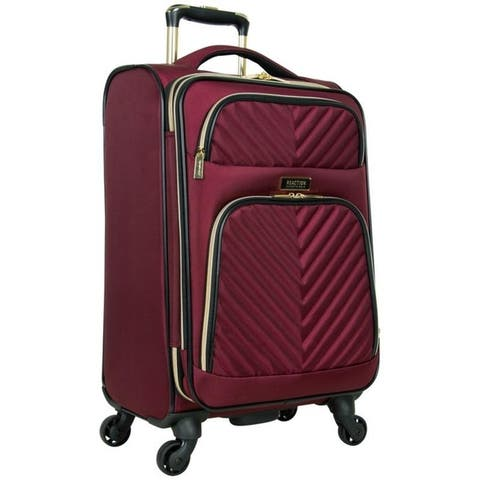 Kenneth Cole Reaction 'Chelsea' 20-Inch Chevron Quilted Expandable 8-Wheel Spinner Carry On Suitcase