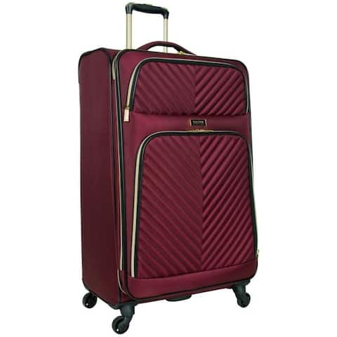 Kenneth Cole Reaction 'Chelsea' 28-Inch Lightweight Softside Quilted Chevron Expandable Spinner Checked Suitcase