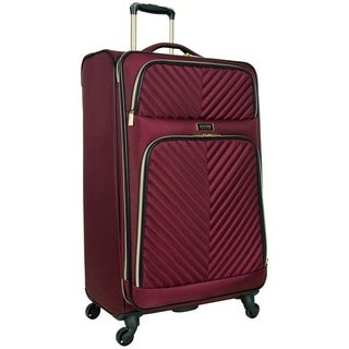 Kenneth Cole Reaction Chelsea Collection Lightweight Softside Chevron Quilted Expandable 4-Wheel Spinner 28in Checked Suitcase